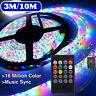 10M 3528 SMD RGB 600 LED Strip Light String Tape Music Sync IR Remote Control ❀