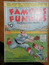 Famous Funnies #22 (Eastern Color) beautiful white pages.Buck Rogers