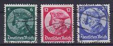 DR Mi Nr. 479 - 481 mit BP Bahnpost etc. gest., Eröffnungssitzung Dt. Reich 1933