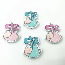 15pcs Baby shape For Crafts Kids toy Pacifier clip making Spacer Wood Besds 30mm