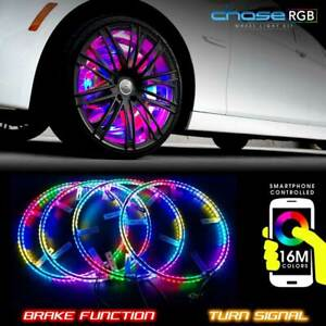 4 LED Wheel Ring Lights IP68 Pro RGB Color Chasing 600LEDs Bluetooth Controlled