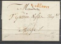 1800 Lettre Marque linéaire 25. DIEULEFIT en rouge DROME(25) P2852