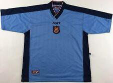 West Ham United 1997/98 1998 shirt jersey Pony blue away vintage 1990s Utd XL