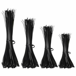 Assorted - Black Cable Ties - 100mm to 370mm - 200 Pack