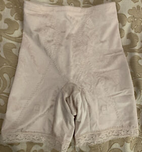 Vint Flexees Floral Deluster Firm Control Long Leg with Garters Girdle Beige Md