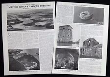 HARBOUR FORTS AT MILFORD HAVEN WALES PEMBROKE DOCK ETC 2pp PHOTO ARTICLE 1976