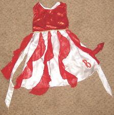 Red White Bratz Devil Medium Dress Costume w Tail