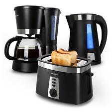 MORNING BREAKFAST KITCHEN SET BUNDLE BLACK TOASTER KETTLE COFFE MACHINE MAKER