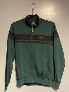 Sergio Tacchini Damarindo Sweater Archivio Jacket Green Black Mens Large