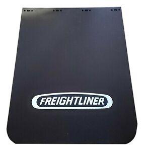 SINGLE OEM FREIGHTLINER MUD FLAP - PLASTIC, BLACK, LOGO, 30 IN  22-69608-202