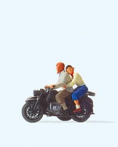 Preiser 28148 Motorradfahrer. Zündapp KS 75, H0