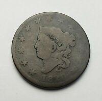 1820/19 Coronet Head / Matron Large Cent Overdate