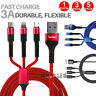 3 in1 Multi Charger Cable Cord Lighting Type C Micro USB Data Sync Fast Charging