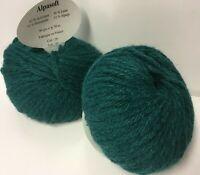 10 pelotes de laine  alpaga  emeraude 26/  - Fabriqué en France