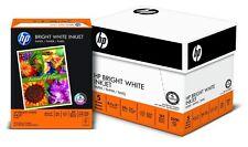 HP Paper Bright White Ink Jet 24lb 8.5x11 Letter 97 Bright (203000C) 2500Shts
