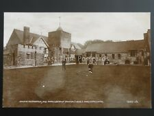 Wales BOWLS GREEN at Owain Glyndŵr OLD PARLIAMENT HOUSE Machynlleth c1911 RP PC