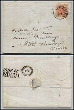 LOMBARDO VENETO-15 cent (5) Piega di carta-Letterina Vicenza->Treviso 24.8.1853