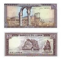 Pick 63f  Libanon / Lebanon 10 Livres 1986 Unc. / 915274vvv