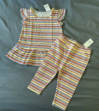 Toddler Girl 12-18 Month Baby Gap Multicolor Striped Playtime Top & Leggings