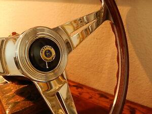 "Sunbeam Alpine Tiger Wood Steering Wheel Nardi 15.3"" NEW  Horn Push  Hub Boss"