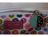 Womens Kate Spade Small Natural Cream Canvas Summer Graphic Handbag/Purse