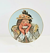 Vintage Emmett Kelly Why Me Ceramic Plate Clown 1983 Hobo Limited Edition