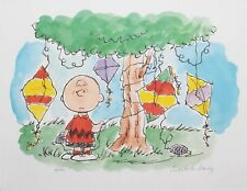 Peanuts Charlie Brown Good Grief Lithograph Signed by Charles Schulz