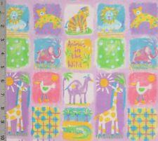 Baby Nursery Medium Wt Decor Cotton Fabric Animals Spectrix By The 1/2 Yard