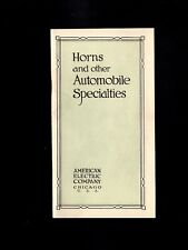 America's Electric Co 1915 Uprated PSE & Horns & Automobile Specialties Bookl 7i