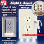 15xPro Duplex Night Angel Light Sensor LED Plug Cover Wall Outlet Coverplate Lot