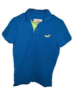Hollister Co. Men's Polo Shirt Classic Blue Green Short Sleeve Top Size Small