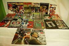 RARE LOT BY NFL ATLANTA FALCONS 20 MEDIA GUIDE PROGRAM PRESS BOOK FOOTBALL