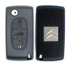 Citroen 3 Button Remote Car Key Fob Case with VAN Symbol and VA2 Flip Blade