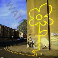 Banksy Yellow Lines Flower Painter Street Giant Poster Art Print Llf0925