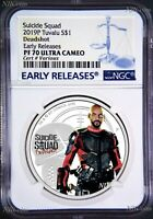 2019 Suicide Squad - Deadshot Proof $1 1oz Silver COIN NGC PF 70 ER