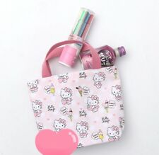 Fashion Cartoon Hello Kitty Pink Orange Canvas Lunch Novelty Handbag Bag