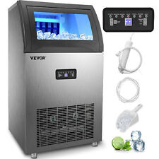 Vevor 121Lb/24H Commercial Ice Maker Built-in Ice Cube Machine 29Lb Storage 510W