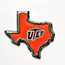 UTEP -  Texas - El Paso  Texas Shape Auto Car Emblem-Metal!