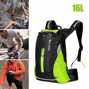16L Cycling Waterproof Nylon Backpack Reflective Breathable Outdoor Travel Bag