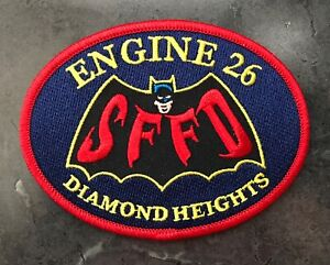 San Francisco Fire Department SFFD Patch Station 26 Diamond Heights 1966 Batman