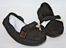 Burberry Kids Sumpter suede loafers black euro 23 us 6.5 toddler
