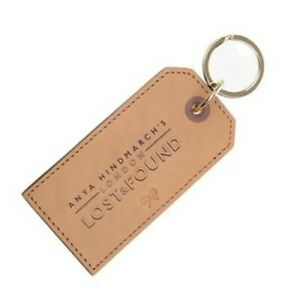 Anya Hindmarch Lost and Found Leather Luggage Tag Keyring