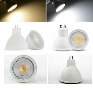 Dimmable GU10 MR16 COB LED Spotlight 7W 230V Bulbs Light White Bright Lamps RE