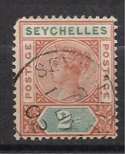 Seychelles Lot #1. Used. Queen Victoria. Corner Perfs