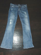 7 FOR ALL MANKIND Women's ROCKER Distressed JEANS Size 27 x 31
