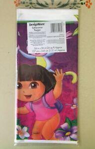 NEW Dora the Explorer Plastic Table cover Flower 54x96 (PACK OF 3) - FREE SHIP!!