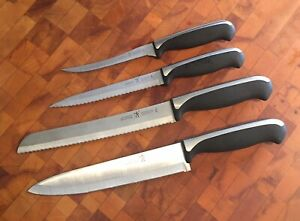 4 J.A. Henckels Inl. Everedge Plus Stainless Knives Chef Bread Utility Tomato