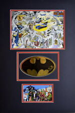 SECRETS Of The BATCAVE PRINT w GOLD FOIL LOGO HAND SIGNED BOB KANE Matted Batman