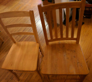 Wood Ladder-back Chairs, Walnut Finish, Assembly required, Solid Wood