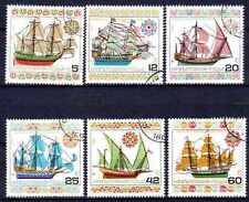 Bateaux Bulgarie (10) série complète de 6 timbres oblitérés